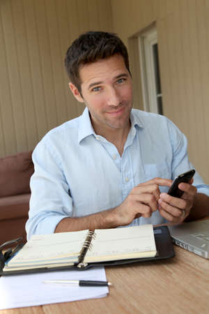 selfemployed: Self-employed person working from home Stock Photo