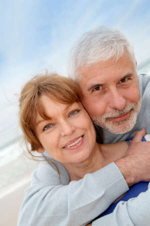 Portrait of senior couple at the beach Stock Photo - 9480165