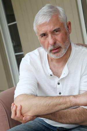 Senior man with osteoarthritis pain Stock Photo - 9479425