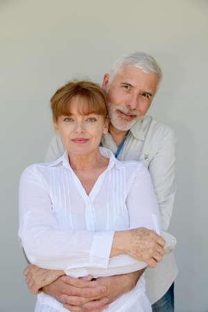 Portrait of loving senior couple photo
