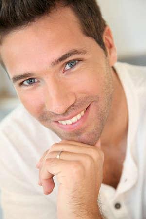 old man smiling: Portrait of handsome smiling man