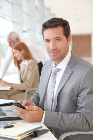 Portrait of businessman in the office Stock Photo - 9480764