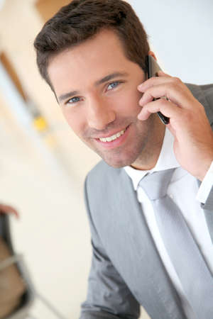 Businessman talking on the phone Stock Photo - 9480578