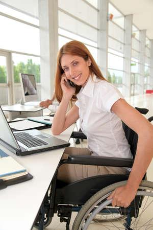 Office worker in wheelchair photo