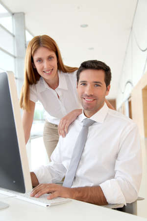 Business people working in office Stock Photo - 9480545
