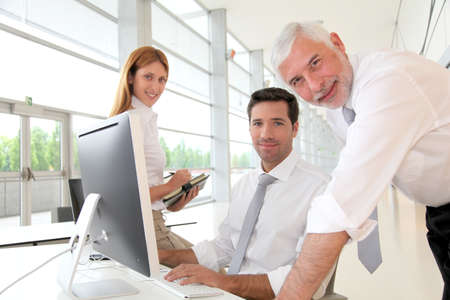 Office workers with manager in a meeting Stock Photo - 9480511