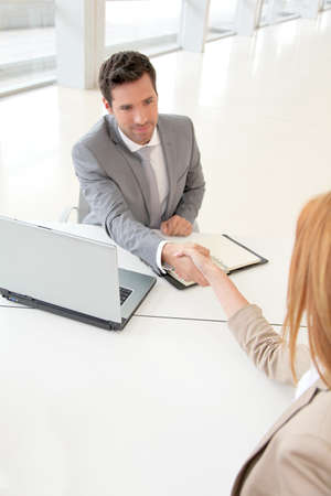 Conclusion of job interview Stock Photo - 9480457