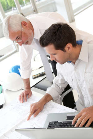 Architects working on planning Stock Photo - 9480738