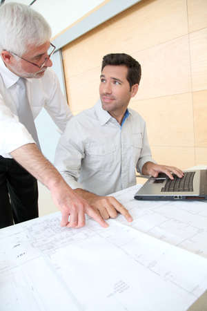 Architects working on planning Stock Photo - 9480733