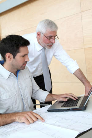 Architects working on planning Stock Photo - 9480798