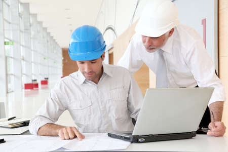 business project: Architects working on planning Stock Photo