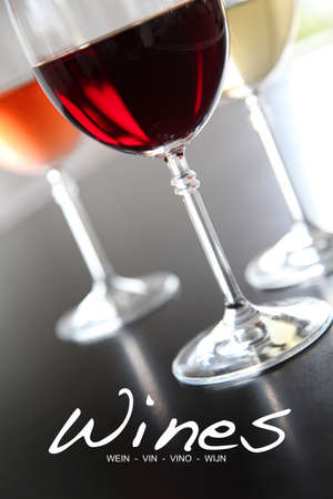 red and white wine: Wine list for restaurant