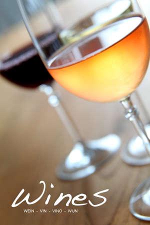 white wine glass: Wine list for restaurant