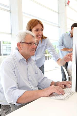 Senior man attending business training Stock Photo - 9634761