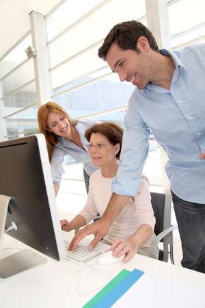 Senior people attending business training Stock Photo - 9634670