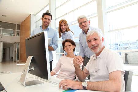 Senior people attending business training Stock Photo - 9634775