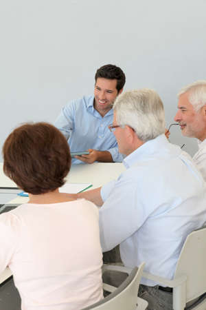 Group of senior people attending job search meeting Stock Photo - 9634760