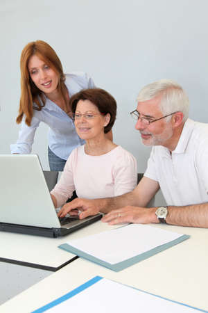 Group of senior people attending job search meeting Stock Photo - 9634830