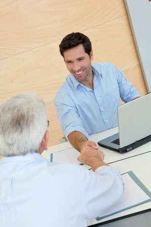 Senior people in job interview photo