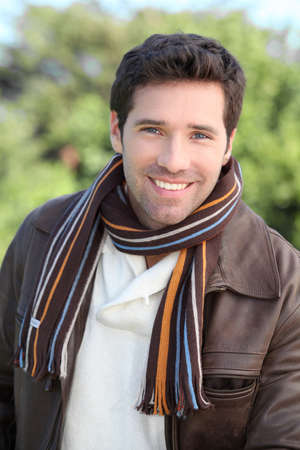 Portrait of attractive young man photo