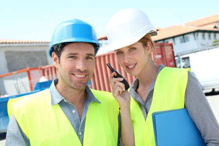 workteam: Workteam meeting on building site