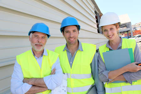 Workteam on building site photo