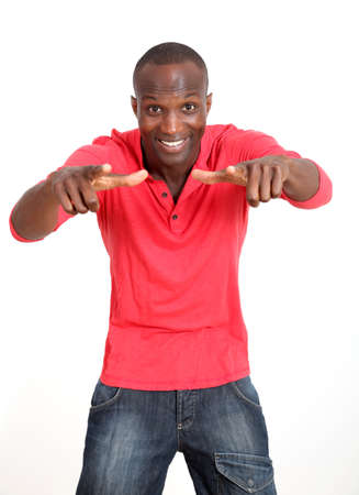 30 years old man: Handsome black man with cheerful attitude
