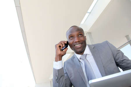 Salesman on business travel using electronic tablet Stock Photo - 9638863