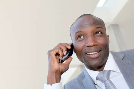 Portrait of businessman talking on the phone Stock Photo - 9638795