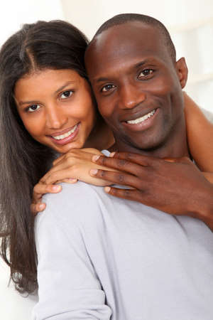 Portrait of happy smiling couple  photo