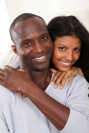 Portrait of happy smiling couple  Stock Photo - 9639727