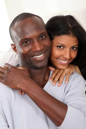 Portrait of happy smiling couple Stock Photo - 9639727