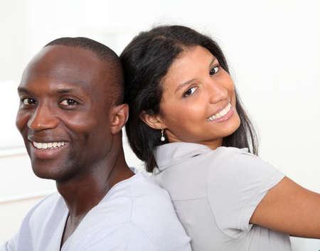 Portrait of happy smiling couple  photo
