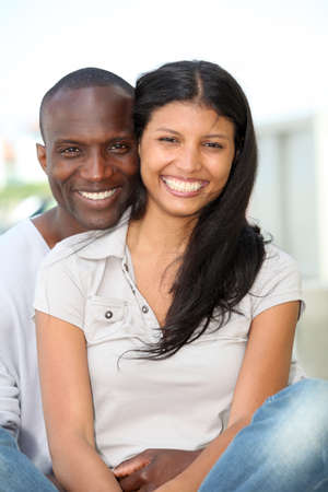 metis: Portrait of metis couple in town