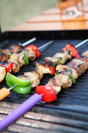 kebob: Closeup on grilled kebob