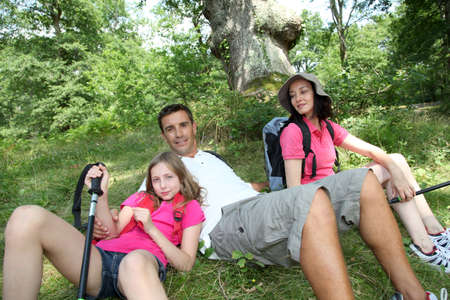 Family on a hiking day Stock Photo - 9909393