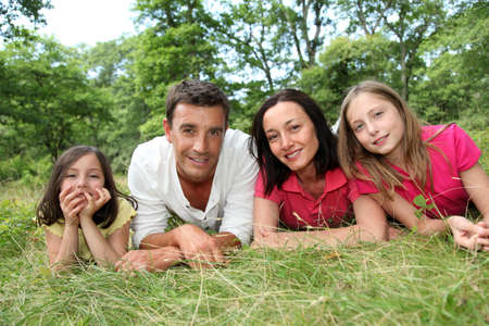 Portrait of happy family in countryside Stock Photo - 9909155
