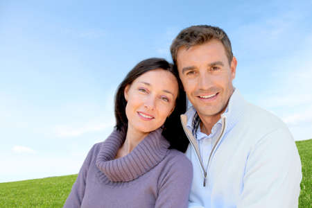Portrait of couple standing outside Stock Photo - 9902796