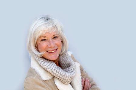 Portrait of smiling senior woman Stock Photo - 9902481