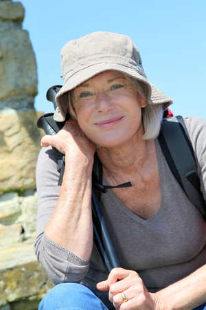 Portrait of senior woman in hiking outfit Stock Photo - 9903343
