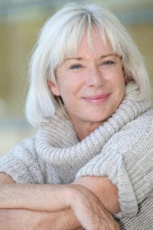 Portrait of beautiful senior woman  photo