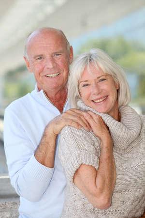 Portrait of smiling senior couple photo