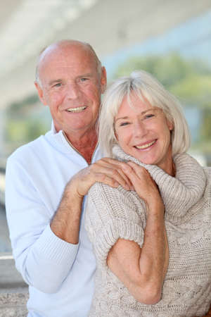 Portrait of smiling senior couple Stock Photo - 9903776
