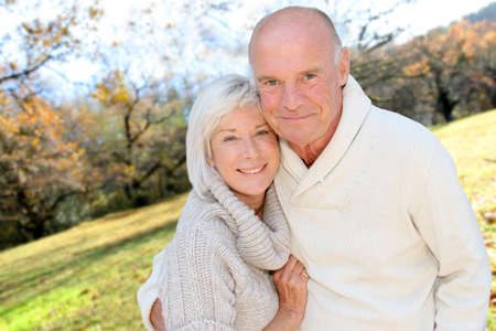 Closeup of senior couple in countryside Stock Photo - 9903563