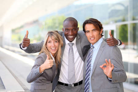 Portrait of successful business team photo