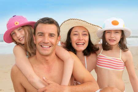 Family vacation at the beach photo