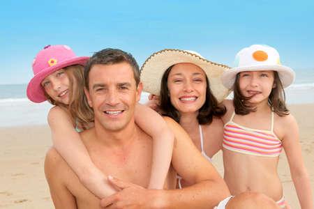 sandy beach: Family vacation at the beach