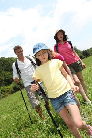 rambling: Family rambling in country field