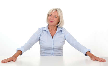 Portrait of senior woman showing satisfaction Stock Photo - 10012373
