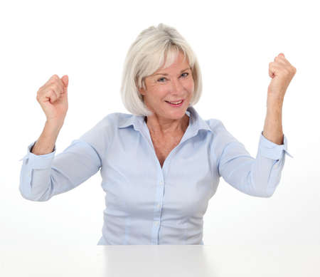 Portrait of senior woman with successful expression Stock Photo - 10012365